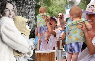 Seda Güven'in minik bebeğiyle ilk tatili