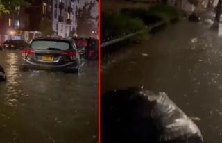 Sel nedeniyle OHAL ilan edilen New York'tan yeni görüntüler...