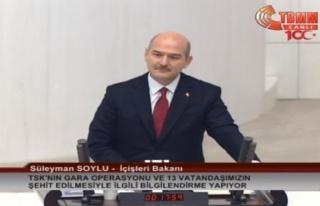 Süleyman Soylu, TBMM'de Gara Operasyonu Hakkında...