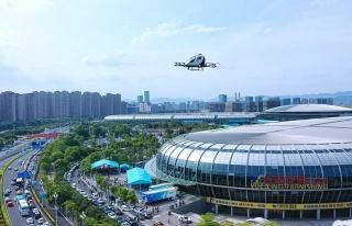 Sürücüsüz Drone Taksi, 2 Yolcusuyla Uçuşunu...