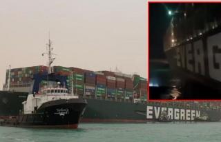 Süveyş Kanalı'nı tıkayan dev gemi 7. günde yüzdürüldü!...