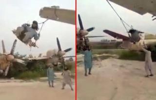 Taliban, ABD'ye ait askeri uçakların kanatlarını...