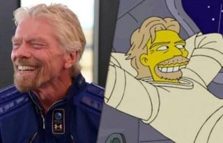 The Simpsons Yine Bildi… Branson'ın Uzaya Çıkışını...