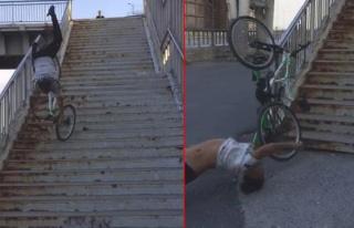 TikTok Videosu İçin Merdivenlerden Bisikletle İnmek...
