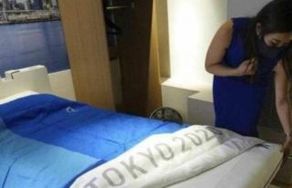 Tokyo Olimpiyatları'nda sporcuların yatak odasına...