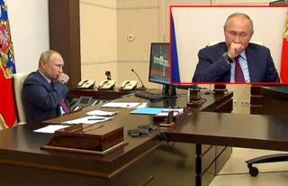 Toplantıda öksürük krizine giren Putin'in korona...