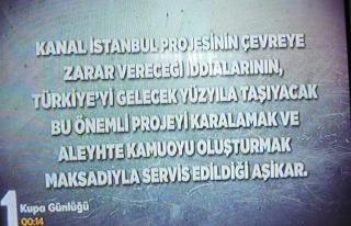 TRT'den Türkiye Maçı Başlarken Kanal İstanbul...