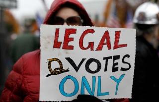 Trump Destekçileri Seçim Sonuçlarını Protesto...