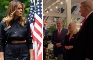 Trump'ın doğum günü partisinde eşi Melania'nın...