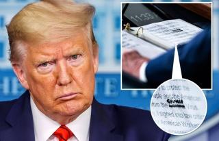Trump'ın Virüs Notları: 'Korona'nın Üzerini Çizip...