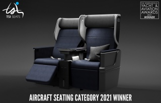 TSI Seats'in ROYALUX koltuğu en iyi tasarım ödülünü...