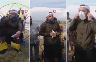 Türkiye'den Havalanıp Rüzgara Kapılan Paraşütçü,...