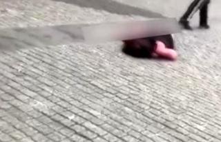 Ukrayna'da bir kişi, yol ortasında tartıştığı...