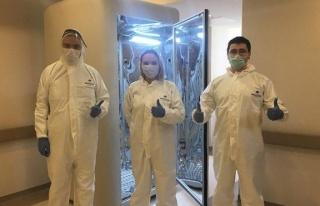 Virüsü 30 saniyede öldüren dezenfeksiyon kabini...