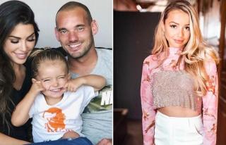 Wesley Sneijder eşiyle barışma aşamasında çapkınlık...