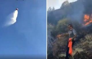 Yangın Söndürme Helikopterine Komut Veren Vatandaşların...