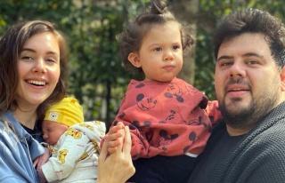 Yenenler çiftinden mutlu aile pozu