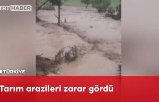 Yozgat'ta Sele Dönüşen Sağanak Yağış Kameralara...