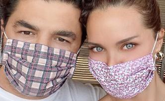 Ebru Şallı'dan maske reklamı