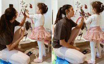 Özlem Ada Şahin ve kızından boyalı paylaşım