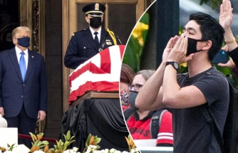 ABD Başkanı Trump ve eşi, cenazede yuhalandı