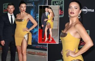Adriana Lima yeni aşkıyla film galasında boy gösterdi
