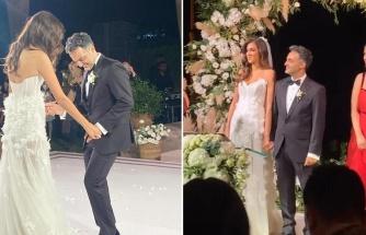 Arda Türkmen ve Melodi Elbirliler evlendi