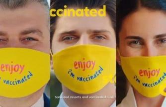 'Aşılandım' Maskesine Tepki Sürüyor: Sosyal Medyada #TurizmBakanıİstifa Çağrısı