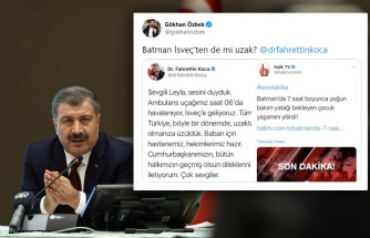 Batman'da 18 Aylık Bebeğin Yer Bulunamadığı İçin Öldüğü İddiası, İsveç'ten Uçakla Hasta Getiren Fahrettin Koca'yı Eleştirilerin Hedefi Yaptı