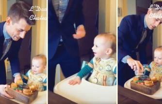 Bebeğine Krallar Gibi Hizmet Eden Babanın Muhteşem Görüntüleri