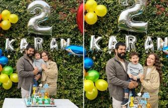 Burak Özçivit ve Fahriye Evcen, Karan'ın 2. yaşını kutladı