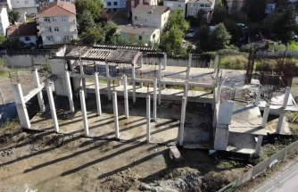 Çekmeköy'de 4 yıl önce başlanan itfaiye istasyonu inşaatı 2.5 yıldır yapılmıyor