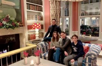 Demet Şener'den Londra'da aile pozu