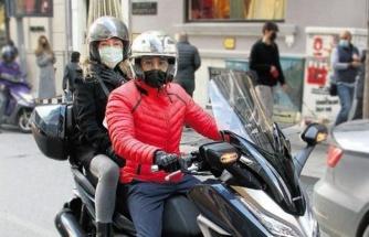 Dilek Birgen ve sevgilisinin motorlu alışverişi