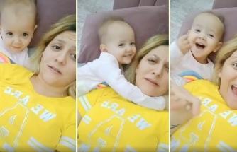 Doğum Anında Yaşadıklarını Küçük Kızına Anlatan Anne ve Ufaklığın Aşırı Sevimli Anları