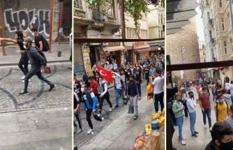 Dün Çeşitli İllerde Toplanan Suriyelilerin Galata Kulesi'ne Yürüyüş Görüntüleri Ortaya Çıktı
