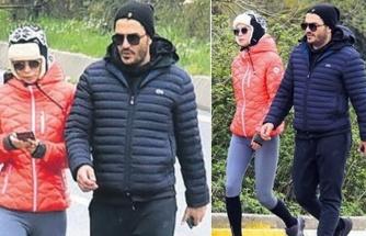 Ebru Şallı eşi Uğur Akkuş ile 10 km yürüdü