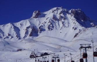Erciyes'te kar kalınlığı 80 santime ulaştı, pistler doldu