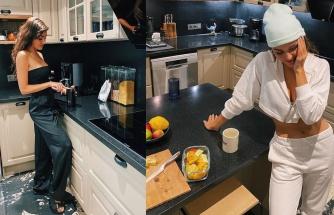 Evinin mutfağını bedavaya getiren Hande Erçel'in büyük sevinci