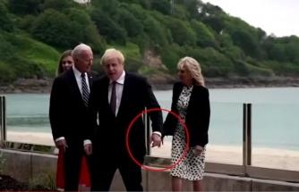 G-7 zirvesine damga vuran olay! Boris Johnson ve Biden'in eşi az kalsın el ele tutuşuyordu