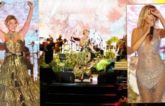 Gülben Ergen'den Kuruçeşme'de pırıl pırıl konser