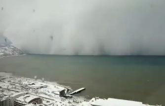 Hopa'yı Vuran Kar Fırtınasının Time Lapse Olarak Kaydedilen Korkutucu Görüntüleri!