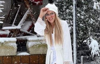 İstanbul'daki kar yağışı ünlü isimleri mutlu etti