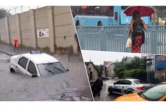 İstanbul Sağanak Yağışa Mahkum Oldu: Alt Geçitte İki Kişi Mahsur Kaldı, Caddeler Göle Döndü