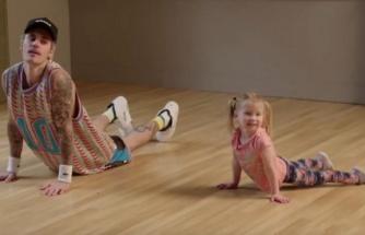 Justin Bieber ve James Corden'ın çocukları taklit etmesi sevimli görüntülere sahne oldu