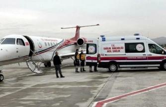 Kalp hastası iki bebek ambulans uçakla İstanbul ve Ankara'ya sevk edildi