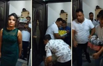Kız İstemeye Giderken Kasa Kasa Elma ile Paket Paket İçecek Getiren Erkek Tarafı