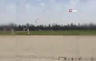 Libya'da nakit para taşıyan helikopter iniş sırasında düştü