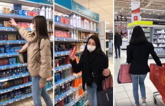 Marketteki İnsanların Sepetlerine Gizlice Prezervatif ve Kayganlaştırıcı Koyan Kızlar