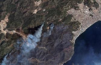 Marmaris ve Manavgat'ta Yanan Ormanlar Uzaydan Görüntülendi